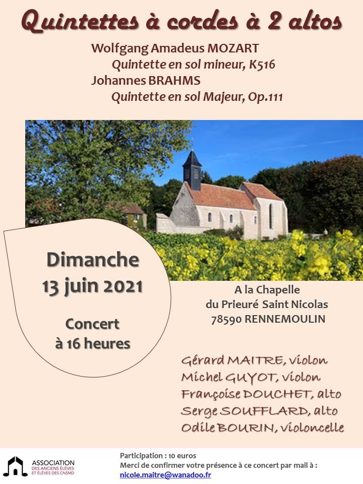 Dimanche 13 Juin 2021 A 16h – Chapelle du Prieuré St Nicolas – Rennemoulin (78) | Association CNSMDP