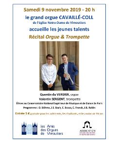 Eglise Notre Dame de Vimoutiers – Samedi 9 novembre 2019 – 20 h | Association CNSMDP