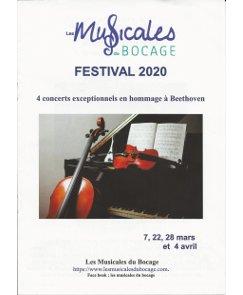 Les Musicales du Bocage – 7, 22, 28 mars et 4 Avril 2020 – Normandie | Association CNSMDP
